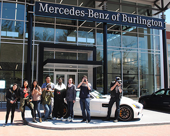 Mercedes benz of burlington welcomes burlington digital for Mercedes benz burlington ma