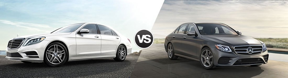 Compare 2017 mercedes benz s class vs mercedes benz e class for Mercedes benz burlington ma