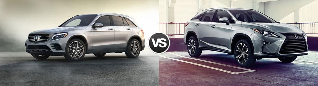 2018 mercedes benz glc vs lexus rx 350 comparison review