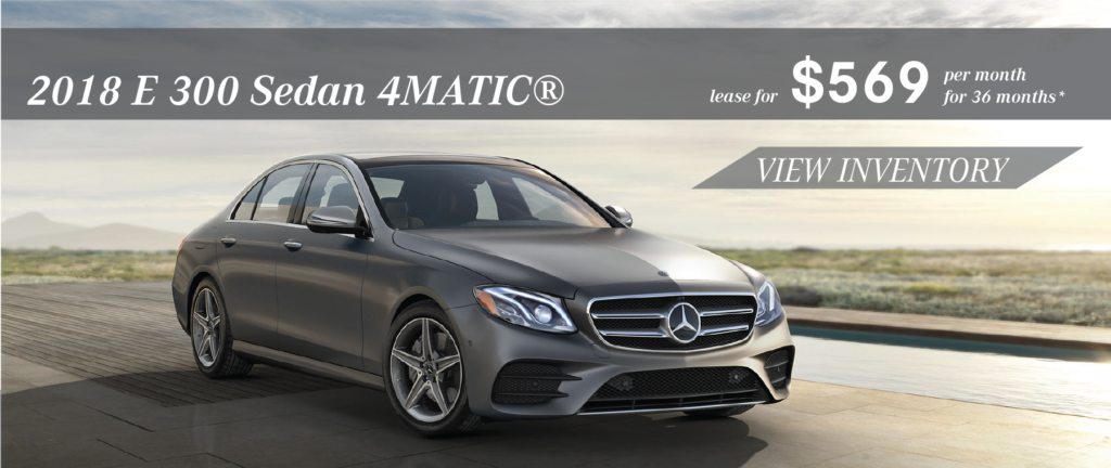 Marvelous Lease A 2018 E 300 4MATIC® Sedan For $569 Per Month For 36 Months.