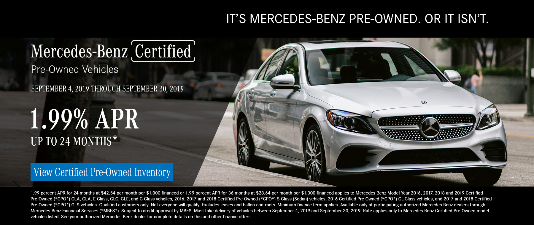 MBOB - Certified Pre-Owned - 1.99% APR Up to 24 months*