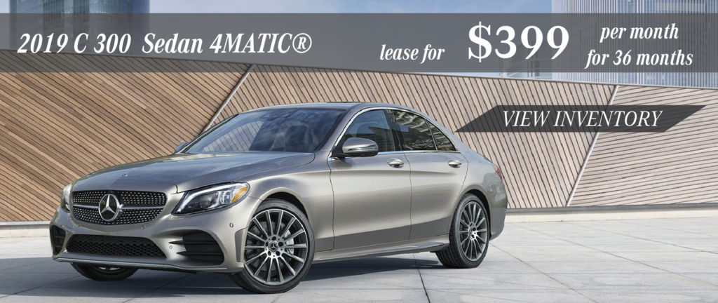 2019 C300 for $399 per month 36 months
