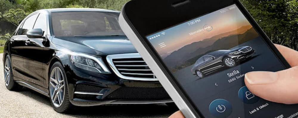 Mercedes-Benz mbrace with phone and vehicle