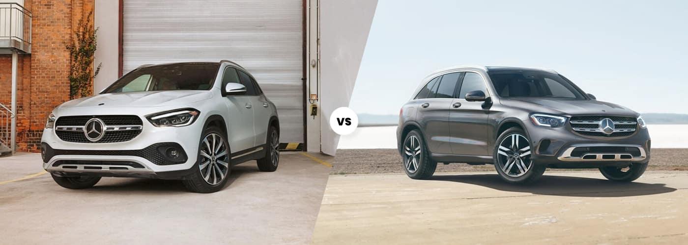 2021 Mercedes-Benz GLA vs MB GLC comparison