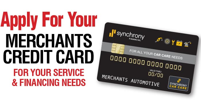 Apply for your Merchants Credit Card for your service and financing needs