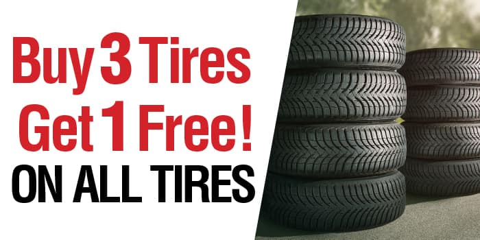 Buy 3 tires get the 4th Free