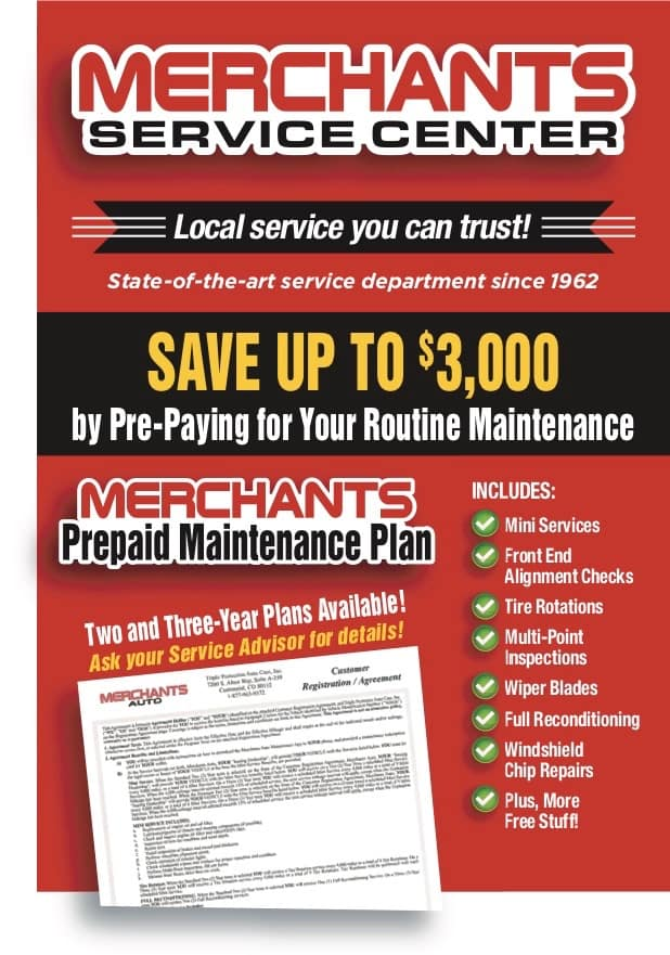 Merchants Auto Service Center Prepaid Service Plans