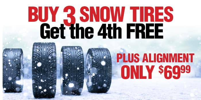 Buy 3 snow tires get the 4th Free