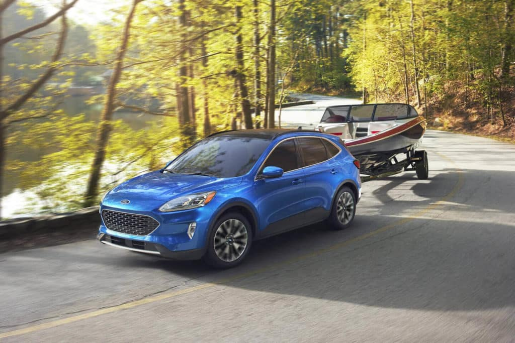 2021 Ford Escape Towing a Boat