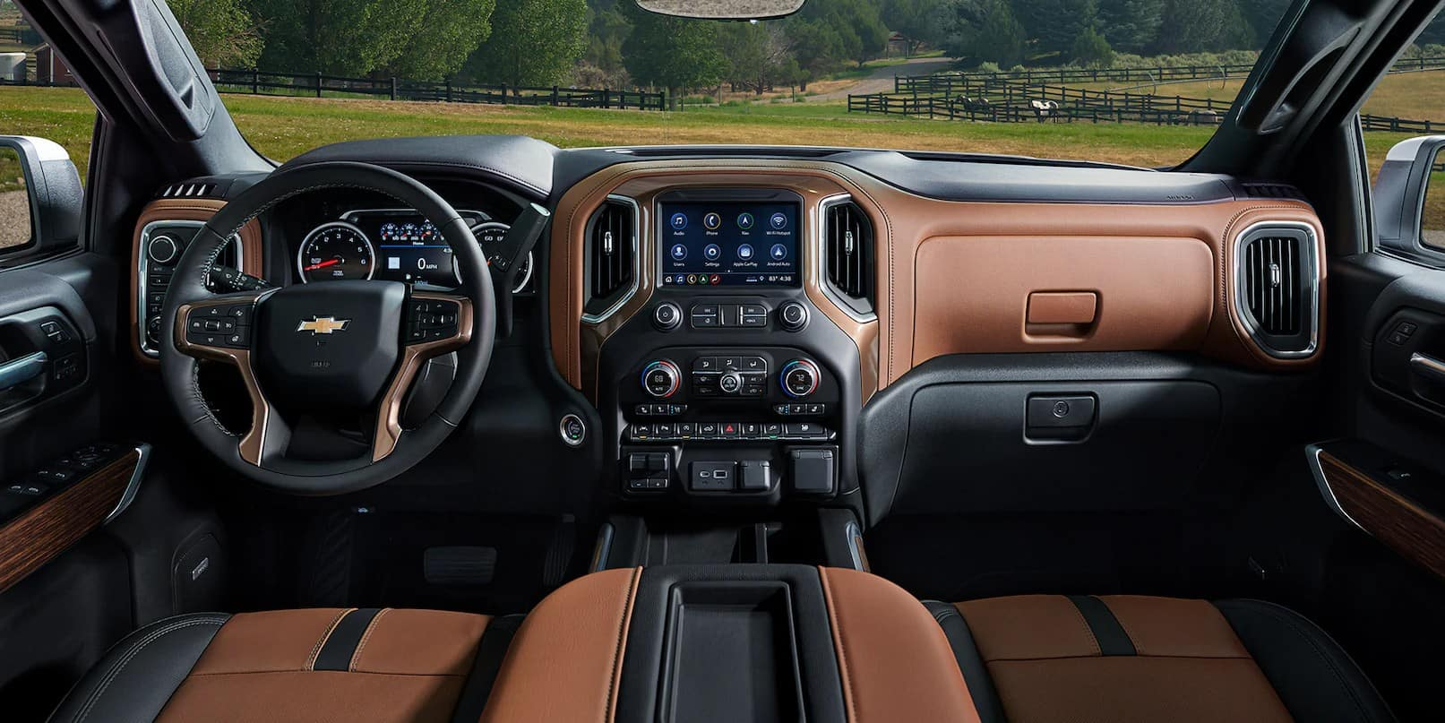 picture of chevrolet silverado 2021 leather interior for sale in Hooksett New Hampshire