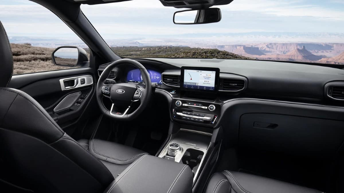 picture of ford explorer 2021 st leather interior for sale in Hooksett New Hampshire