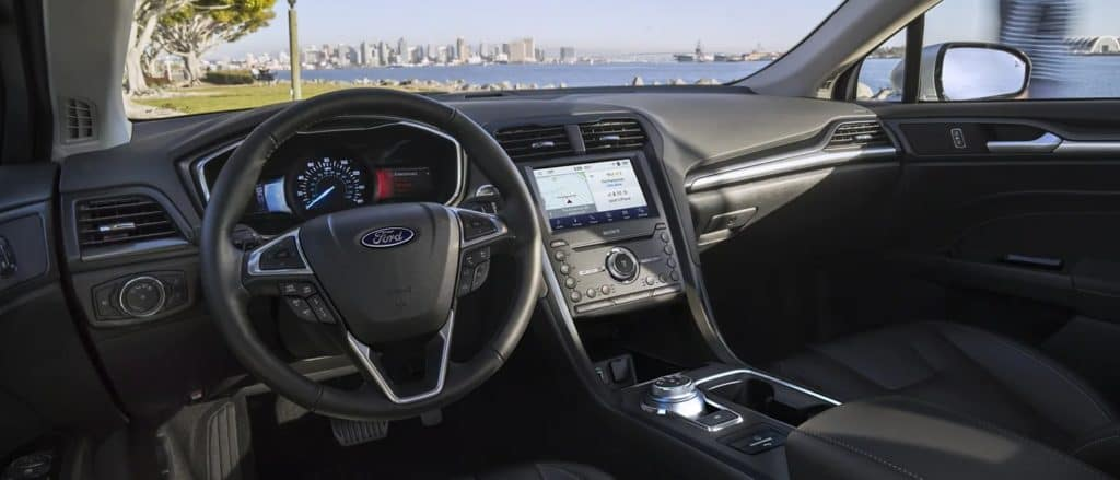 picture of ford fusion sedan 2020 front seat interior display for sale in Hooksett New Hampshire