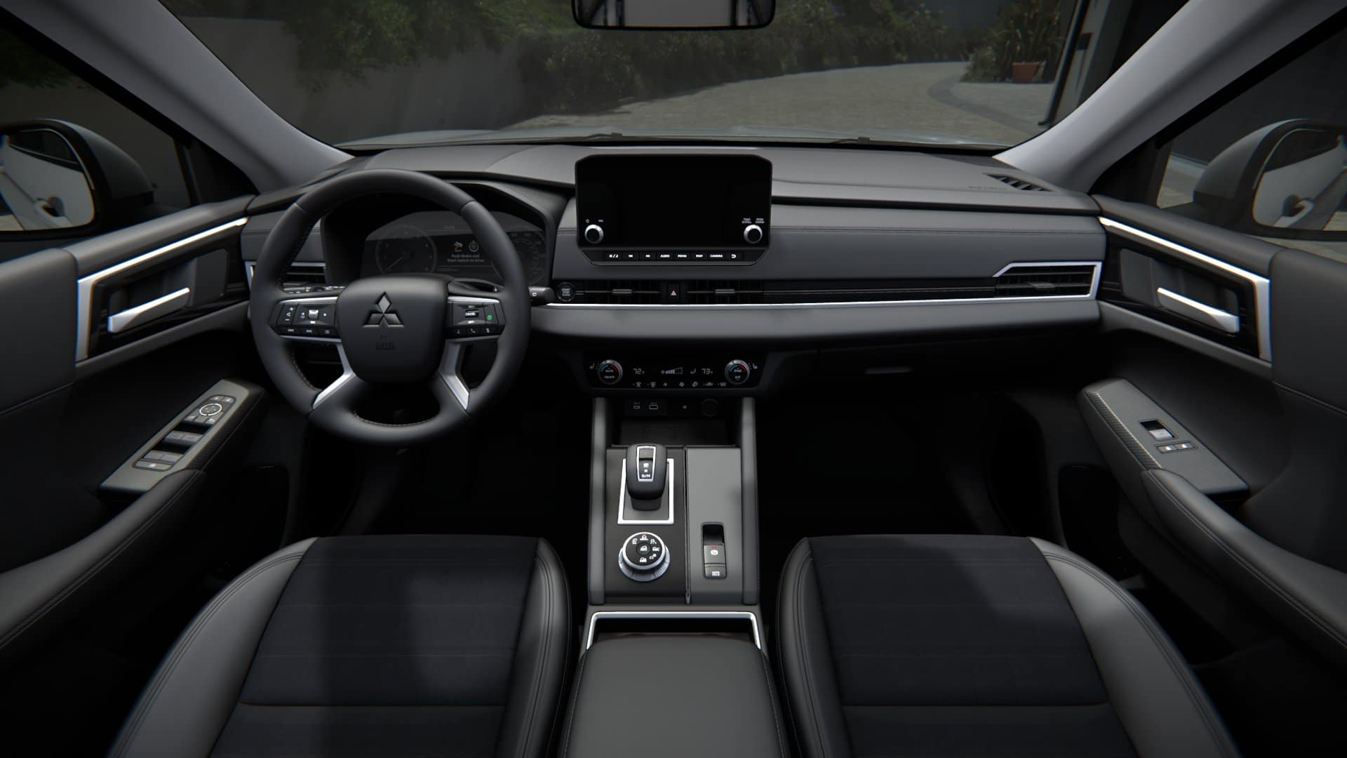 picture of mitsubishi outlander 2022 front seat interior for sale in Hooksett New Hampshire