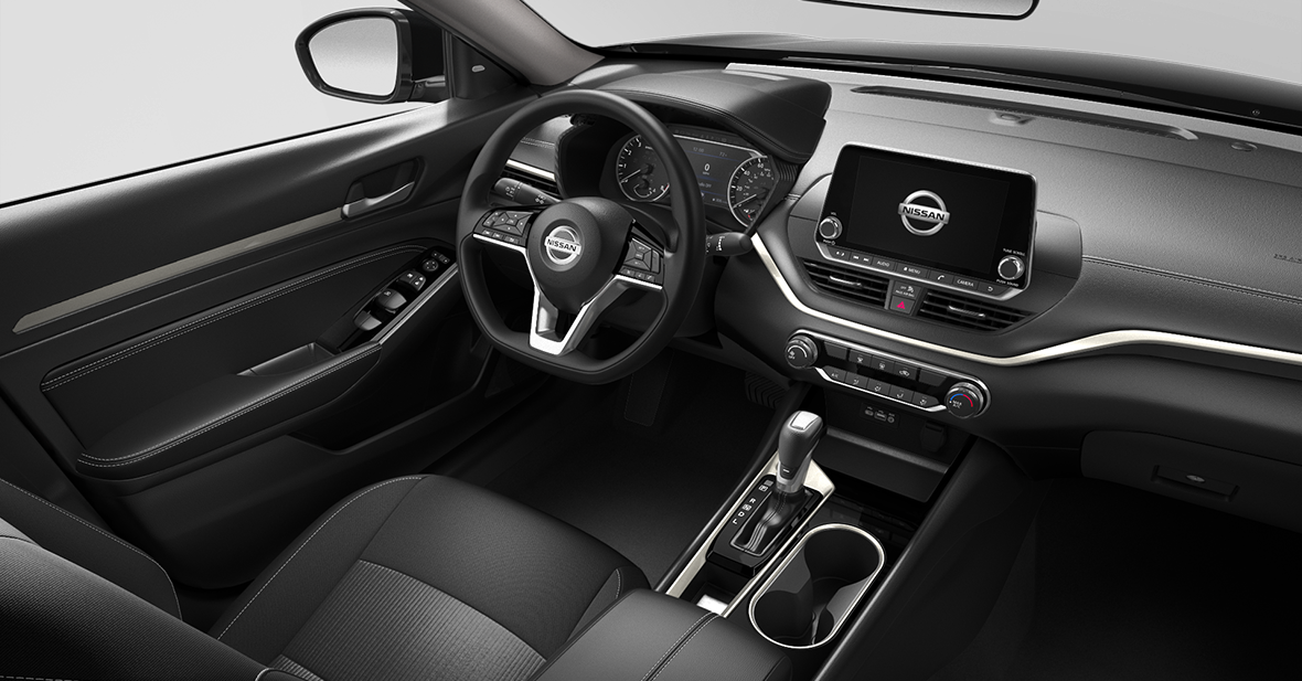 picture of nissan altima 2021 black leather interior for sale in Hooksett New Hampshire