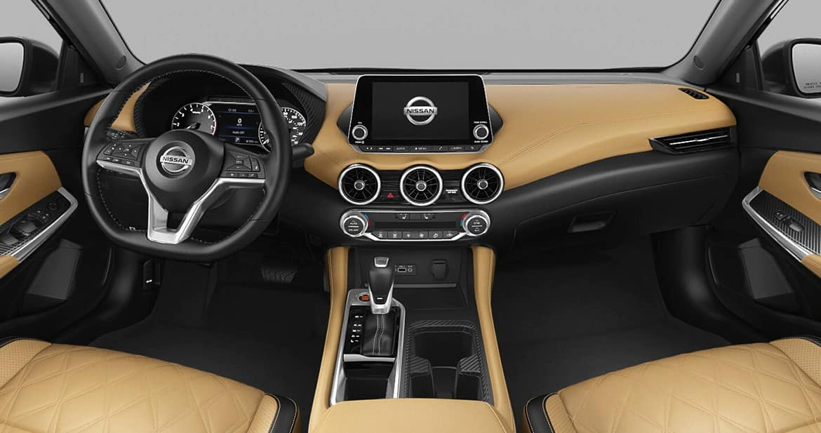 picture of nissan sentra sv 2021 interior in tan for sale in Hooksett New Hampshire