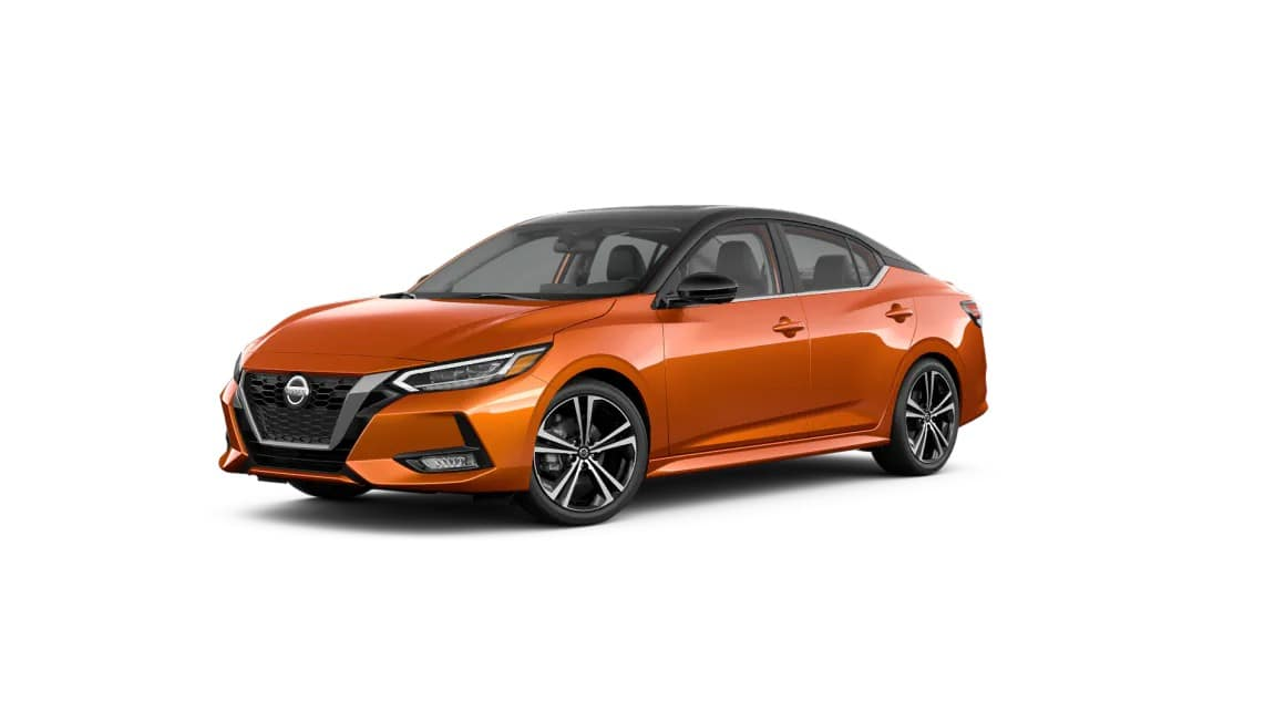picture of nissan sentra sv 2021 orange exterior for sale in Hooksett New Hampshire