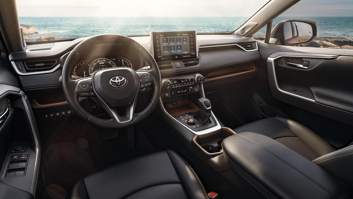 picture of toyota rav4 2021 black leather interior display for sale in Hooksett New Hampshire
