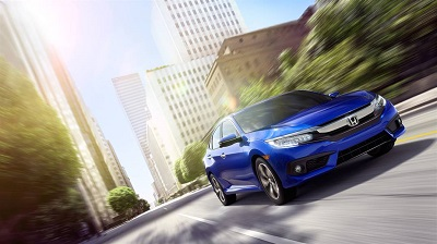 2016 Honda Civic blue exterior