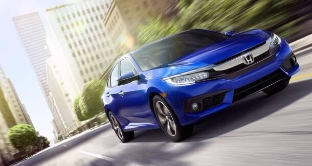 2017 Honda Civic blue exterior model
