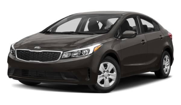 2017 Kia Forte dark grey exterior model