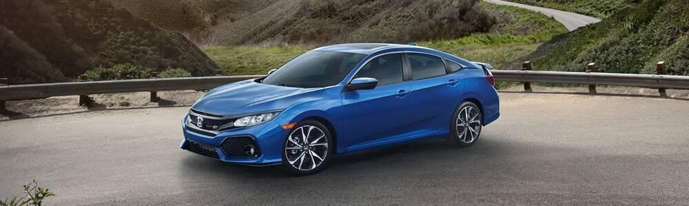 Honda Civic SI Preview blue exterior model