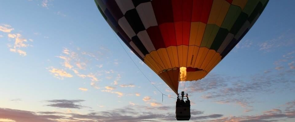 Hot Air Balloon in the air