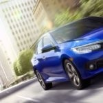 2017 Honda Civic blue exterior model