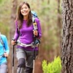 Hiking on a trail