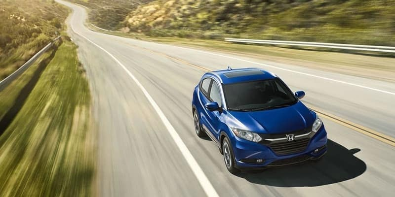 2018 Honda HR-V blue exterior model