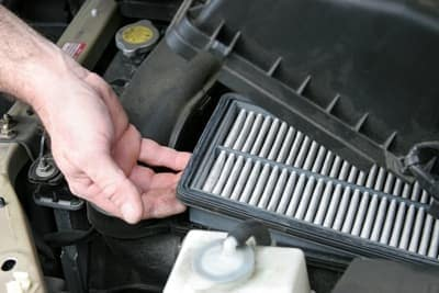 Dirty Vehicle Air Filter