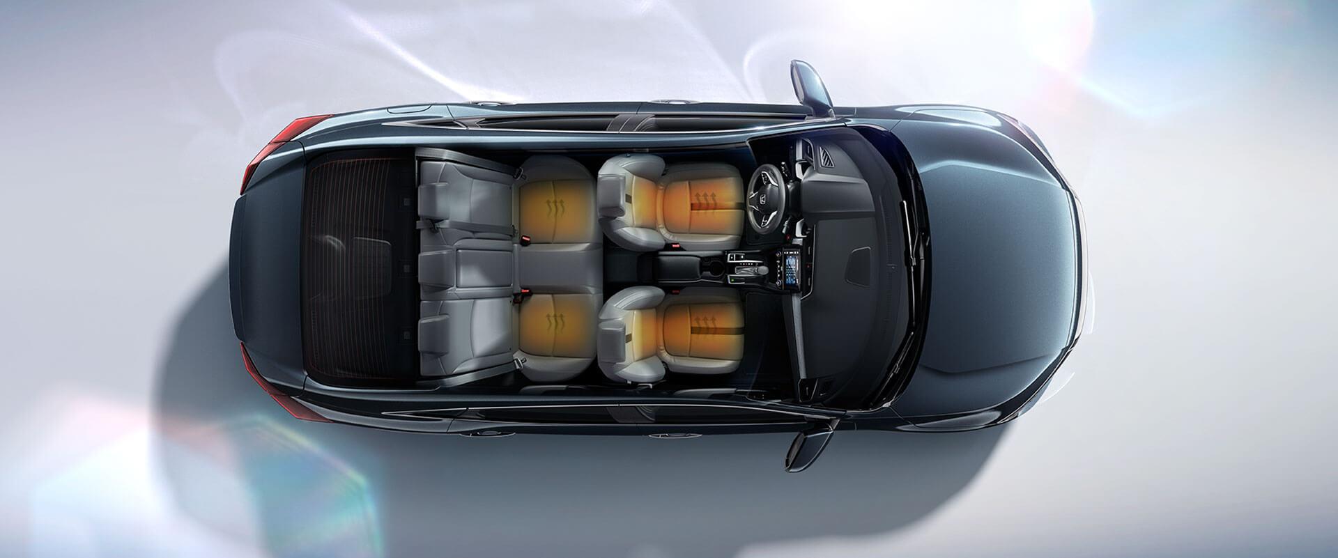 2016 Honda Civic Interior space