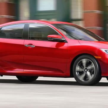 2017 Honda Civic red exterior