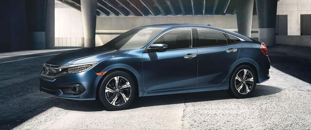 2017 Honda Civic blue exterior