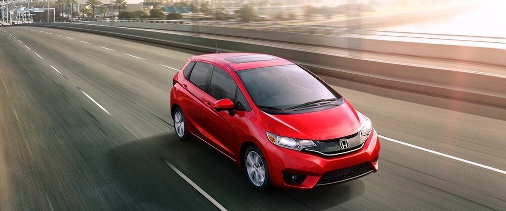 2017 Honda Fit red exterior
