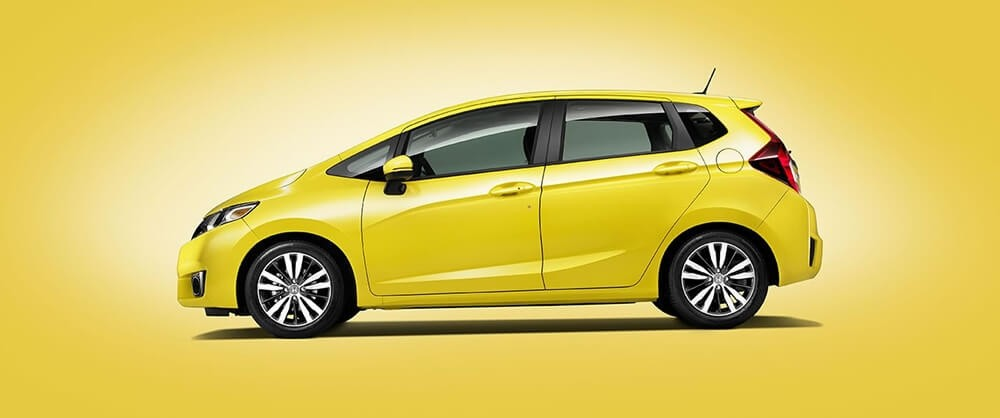 2017 Honda Fit yellow exterior
