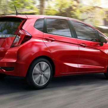 2018 Honda Fit red exterior