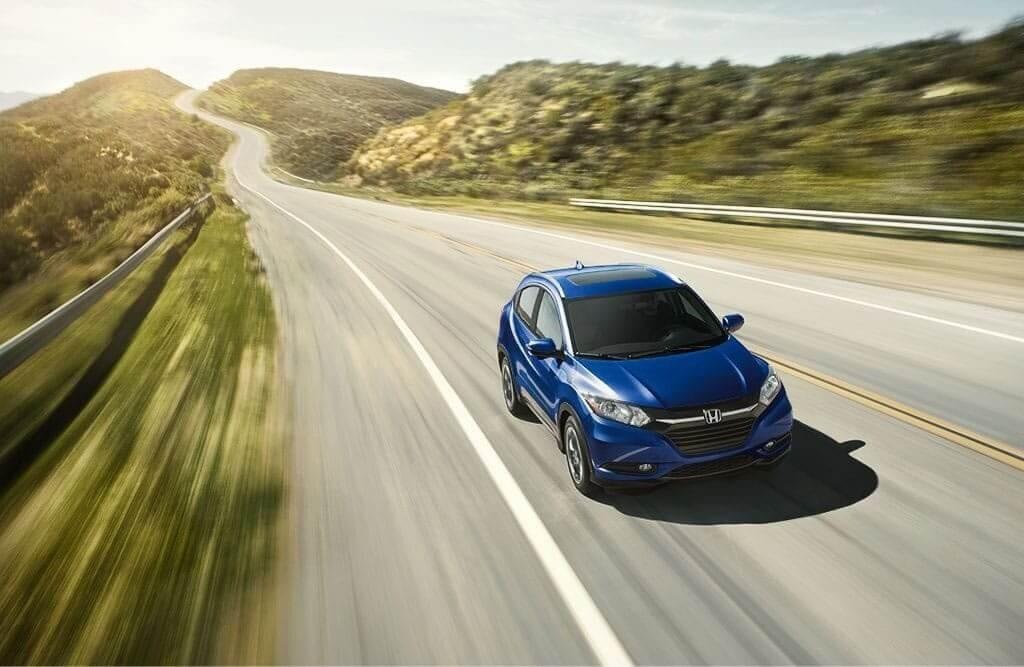 2018 Honda HR-V blue exterior model