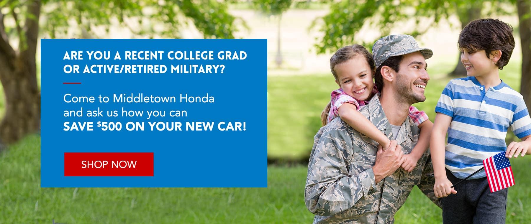College Grad / Military Discount