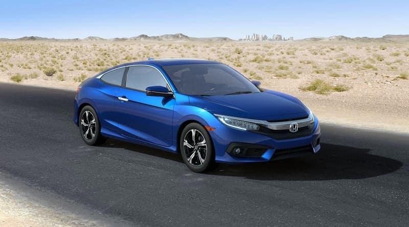 2018 Honda Civic Coupe blue exterior