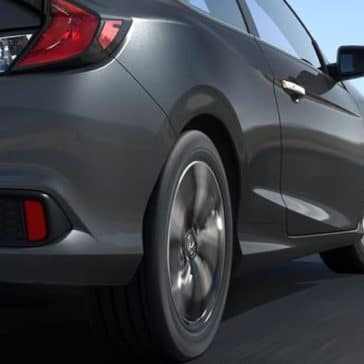 2018 Honda Civic Coupe rear view up close