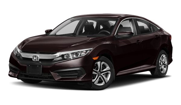 2018 Honda Civic Sedan white background