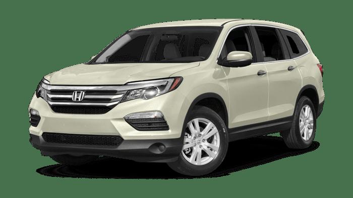 2017 Honda Pilot white background