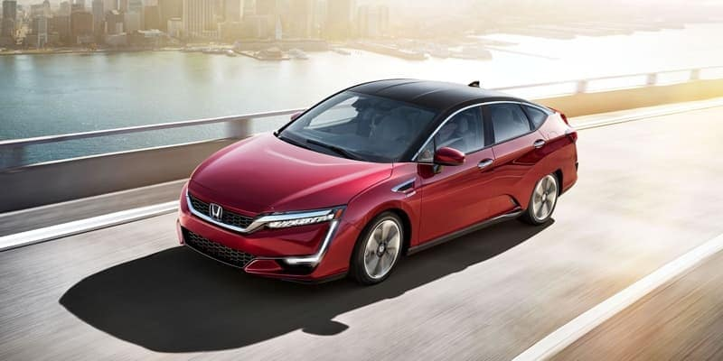 2018 Clarity Fuel Cell red exterior