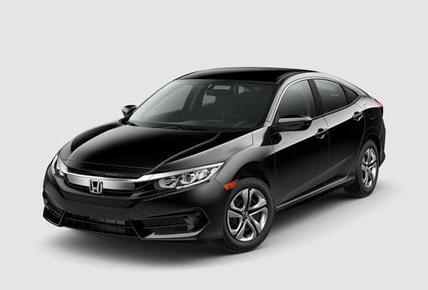 Black 2018 Honda Civic Sedan at an angle