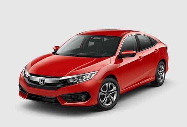Red 2018 Honda Civic Sedan at an angle