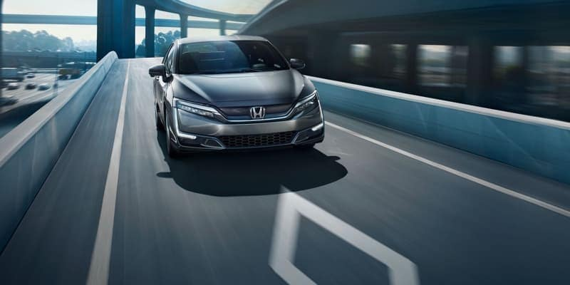 2018 Honda Clarity Electric on the road