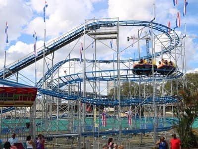 Orange County Fair Super Cyclone Coaster