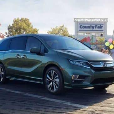 2019 Honda Odyssey parked at fair