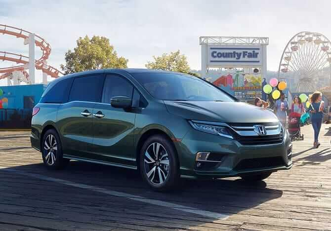 2019 Honda Odyssey parked at fair