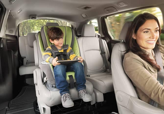 2019 Honda Odyssey with carseat